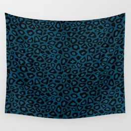Teal Leopard Animal Pattern Wall Tapestry