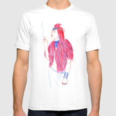 Mlle. White MEDIUM Mens Fitted Tee