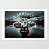 wanderlust Art Prints featuring Wanderlust by UtArt