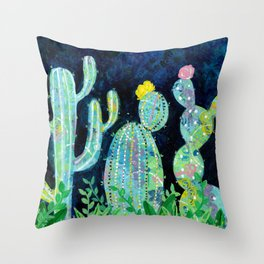 Cactus Field Throw Pillow