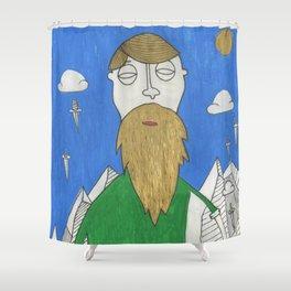 The Mountain Man Shower Curtain