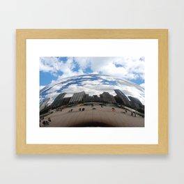 Through Cloud Gate Framed Art Print