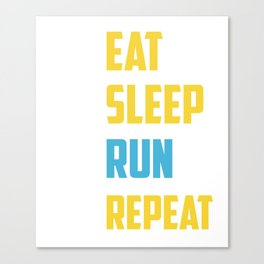 Gift For Running Lover. Shirt From Mom. Canvas Print