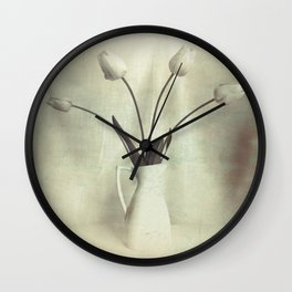 Simple Tulips in Pitcher Modern Country Modern Cottage Art A449 Wall Clock