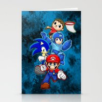 smash bros Stationery Cards featuring Super Smash Bros  by Blaze-chan