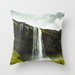Art Print-Seljalandsfoss Waterfall, Iceland Throw Pillow