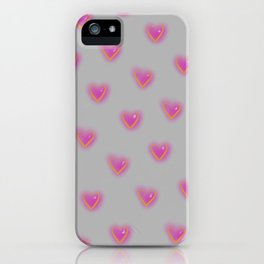 Electric Hearts (Stone) iPhone Case