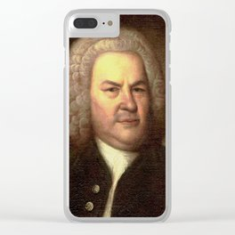 Elias Gottlob Haussmann – portrait of Bach Clear iPhone Case