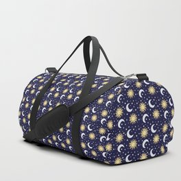Greek Inspired Suns and Moons with Stars Duffle Bag