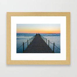 Sunrise on Red Sea Framed Art Print