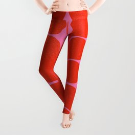 Abstract mid-century shapes no 6 Leggings