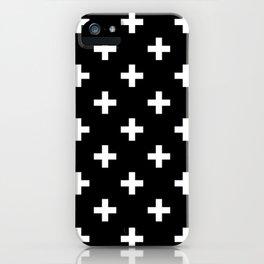 plus pattern iPhone Case