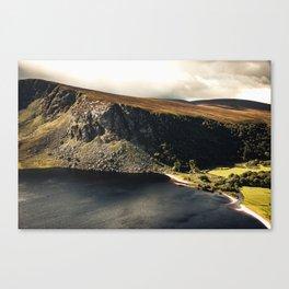 Irish Black Water - Lough Tay Canvas Print