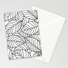 Sweet leafs:  White Stationery Cards