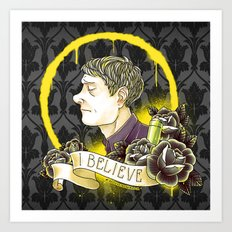 Believe in Sherlock Holmes Art Print