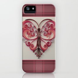 Quilling Heart 5 iPhone Case