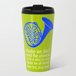 Blue French Horn Travel Mug