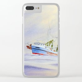 Shrimp Boat On The Gulf Clear iPhone Case