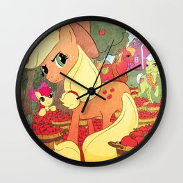 Applejack and Family Wall Clock