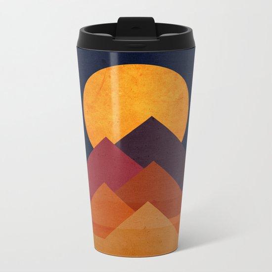 Full moon and pyramid Metal Travel Mug