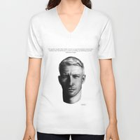 wes anderson V-neck T-shirts featuring Anderson. by BrittanyJanet Illustration & Photography