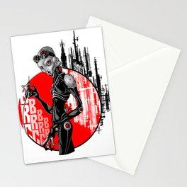 Cyborg cyberpunk Stationery Cards