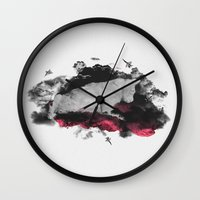 war Wall Clocks featuring War by Alexandru
