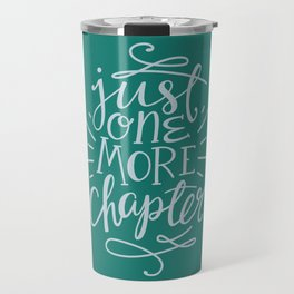 Book Nerd One More Chapter Teal Travel Mug