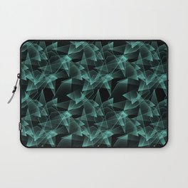 Abstract pattern.the effect of broken glass.Black background. Laptop Sleeve