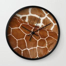 Giraffe Design Illustration Background Wall Clock
