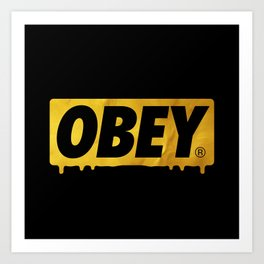 OBEY Bleeding Gold Art Print