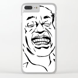 Face Louis Armstrong Clear iPhone Case