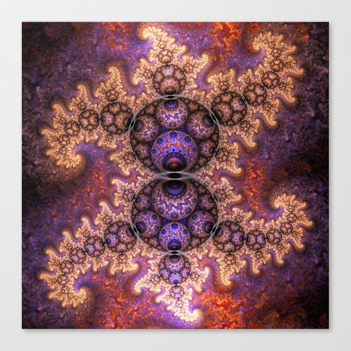 Fiery dragon spirals and orbs Canvas Print