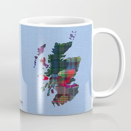 Scotland Counties Fabric Map Art Coffee Mug