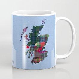 Scotland Counties Fabric Map Art Coffee Mug