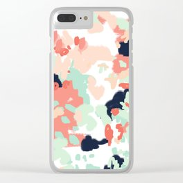 Suma - abstract gender neutral trendy home office nursery decor painting Clear iPhone Case