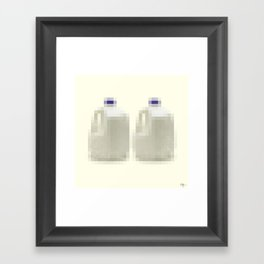 Censored Milk Framed Art Print