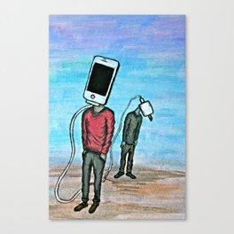 Phone Head Canvas Print