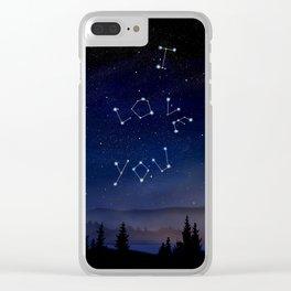 I love You Stars Design Clear iPhone Case