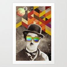 Public Figures Collection - Chaplin Art Print