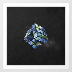 rubik's earth Art Print