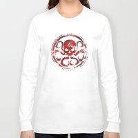 hydra Long Sleeve T-shirts featuring HYDRA by Trey Crim