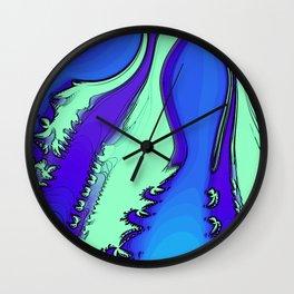 River of Fractals Wall Clock