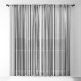 Stripes Collection: Barcode Sheer Curtain