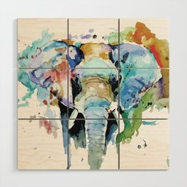 Animal painting Wood Wall Art