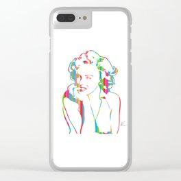 Marilyn | Pop Art | Monroe by William Cuccio Clear iPhone Case