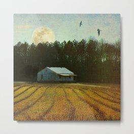 Fallow Moon Landscape Metal Print
