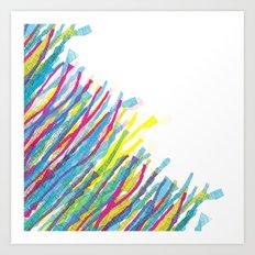 stripes in the wind Art Print