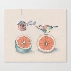 Citrus Bird Canvas Print