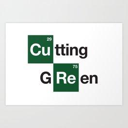 cutting green Art Print